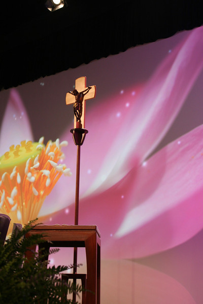 Front and Center is the Cross of Jesus Christ.