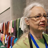"""Barbara O'Keefe, Alexandria, Va., has a long line of prayer shawls behind her. In her lifetime, she's knitted more than 100. """"I've given them to speakers at our [synodical] women's gatherings, to people who are sick and to people celebrating happy occasions,"""" O'Keefe said at the shawl display at Camp Dianoigo. """"The pattern I use is a Trinity of stitches. Three stitches you knit; three stitches you purl. I tell people to use it in times of happiness and sadness.""""  O'Keefe contributed some of these shawls, which will be distributed to ministries and communities in the Eastern Washington-Idaho Synod. EH"""
