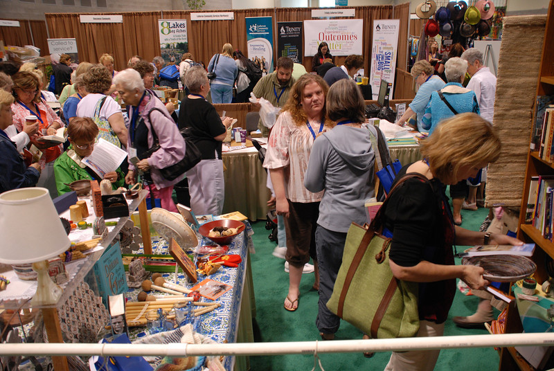 One of a kind fair-trade gifts, books, DVDs, conversations and more brought Women of the ELCA participants to the bookstore. EH