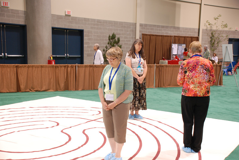 Participants walked the prayer labyrinth.
