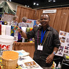 Jensen Seyenkulo explains to participants the need for clean water and water filtration kits for the Kuwaa Mission in Liberia. EH