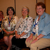 Churchwide executive board officers. From left: Treasurer Barbara Martz, President  Jennifer Michael, Vice President  JoAnn Fuchs, Secretary Jackie Wilson.