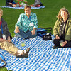 Mary Carton Lull, (l-r) Patricia Lull (author of Gather's 2011-12 Bible study on Mark), and Phyllis Nelson enjoy the beautiful Spokane weather during the opening reception of the Eighth Triennial Gathering. TL