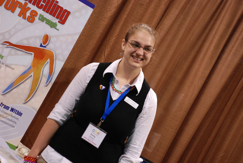 Emily Hamilton, a Lutherans Concerned North America intern, spoke to participants about ministry with gay and lesbian people. Hamilton, a Lutheran Volunteer Corps member, is spending a year working for LCNA. EH