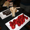 Chocolate and strawberries at the Chocolate Lounge networking event for young adult women. DB