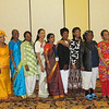 Women pose during the International guest reception on Thursday evening at the Triennial Gathering. TB