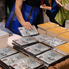"""Even before Leymah Gbowee spoke Saturday, triennial participants were buying copies of the film starring Gbowee, """"Pray the Devil Back to Hell."""" EH"""
