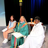 Jennifer Armstrong-Schaefer (L), The Rev. Jessica Crist, and Dorothy Nevils lead the convention in worship.