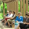 Delegates enjoy a warm breeze on break. (TB)