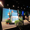 The Rev. Jessica Crist, bishop of the Montana synod, preaches at the convention opening worship.