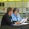 Former executive board president Carmen Richards (2005-2008) advises new president Jenny Michael.