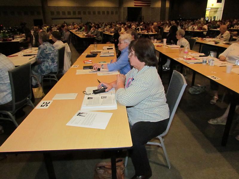 Delegates vote for executive board president.