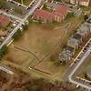"This aerial photo shows the site of Peppertree Pond prior to the pond's construction.  The pond is in the Turkey Branch subwatershed.<br /> <br /> The Montgomery County Department of Environmental Protection (DEP) received a $2 million TE grant in 2000 to construct channel restoration and habitat improvements in Rock Creek Park. In an effort to restore and protect the Rock Creek watershed, which ultimately drains to the Chesapeake Bay, this project added modern stormwater controls to 730 acres to the Turkey Branch Stream subwatershed (approx. 30% of the drainage area). The project including work along 12,000 feet of the Turkey Branch Stream, along 13,400 feet of the Sycamore Creek, and along Joseph's Branch Stream. The Rock Creek watershed drains approximately 60 square miles.<br /> <br /> You can learn more about the DEP's work in this watershed by visiting their website at: <a href=""http://www.montgomerycountymd.gov/deptmpl.asp?url=/content/dep/restoration/home.asp"">http://www.montgomerycountymd.gov/deptmpl.asp?url=/content/dep/restoration/home.asp</a>"