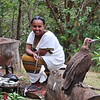 Wild Vultures in Yergalem know that during the Ethiopian coffee ceremony some of the popcorn will be for them