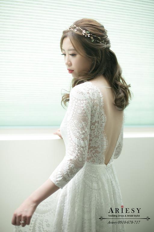 新秘推薦,輕婚紗造型,新秘,新娘秘書,ariesy,愛瑞思