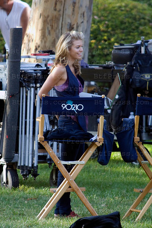 "AnnaLynne McCord during the set of the Serie ""90210"" at the UCLA in Los Angeles."