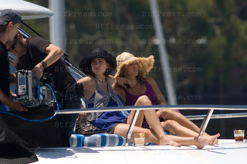 Los Angeles, California The cast of 90210 film an episode on a yacht. Jessica Lowndes as Tate-Ducan (R) and AnnaLynne McCord as Naomi clark (R)Photo by Michel Boutefeu