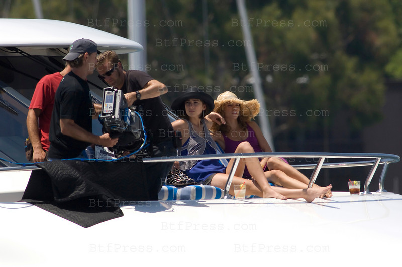 Los Angeles, California The cast of 90210 film an episode on a yacht. Jessica Lowndes as Tate-Ducan (R) and AnnaLynne McCord as Naomi clark (R) Photo by Michel Boutefeu