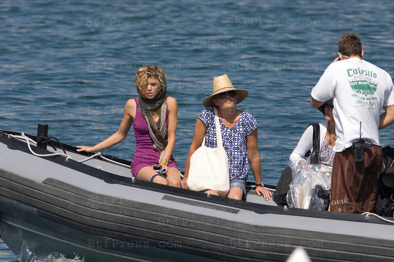 Los Angeles, California The cast of 90210 film an episode on a yacht. AnnaLynne McCord as Naomi clark (L) - Photo by Michel Boutefeu