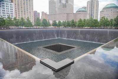 Reflecting pool, 911 Memorial Museum, NYC