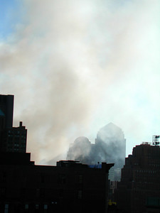 Smoke poured from Ground Zero and filled the air for days.
