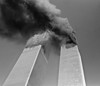 FILE - In this Tuesday, Sept. 11, 2001 file photo, smoke billows from the twin towers of the World Trade Center in New York. (AP Photo/Gulnara Samoilova)