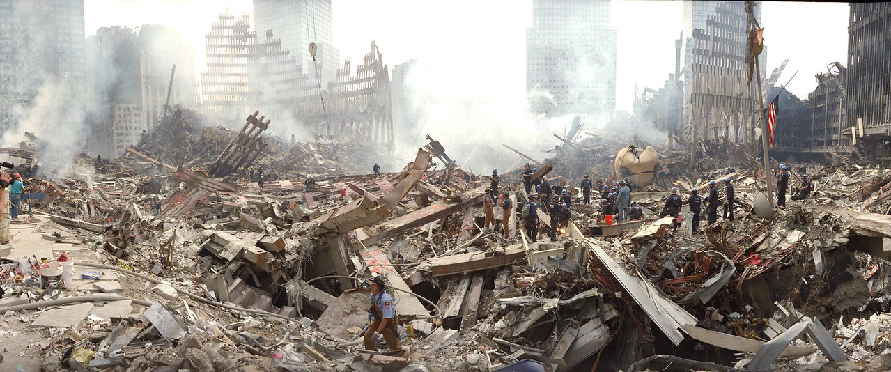 9-18-2001<br /> FDNY and NYPD SEU  work on ground zero.