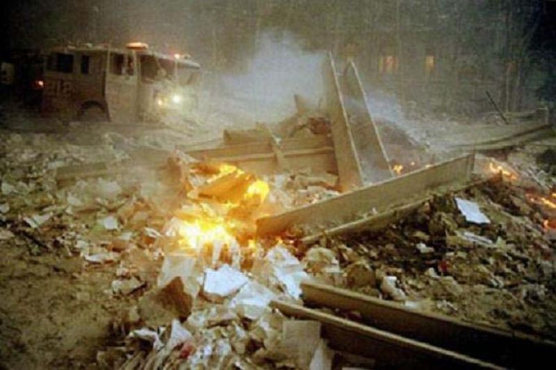 'Molten steel ran down the sides of the debris pile.' -First responders