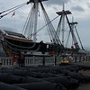 Cannons, masts, and spars removed for 20 year renovation