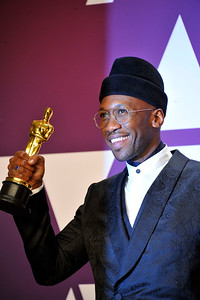 """ACADEMY AWARDS 91ST OSCARS PRESSROOM HELD AT THE LOWES HOTEL IN HOLLYWOOD CALIFORNIA ON FEBRUARY 24,2019. MAHERSHALA ALI BEST SUPPORTING ACTOR """"GREEN BOOK""""  PHOTOGRAPHER VALERIE GOODLOE"""