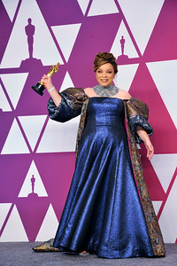 """ACADEMY AWARDS 91ST OSCARS PRESSROOM HELD AT THE LOWES HOTEL IN HOLLYWOOD CALIFORNIA ON FEBRUARY 24,2019. COSTUME DESIGN """"BLACK PANTHER"""" RUTH CARTER PHOTOGRAPHER VALERIE GOODLOE"""