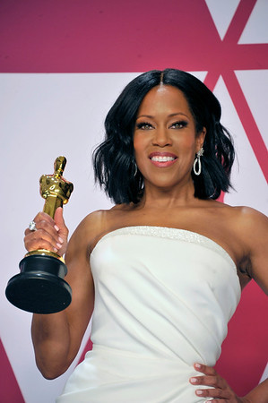 "ACADEMY AWARDS 91ST OSCARS PRESSROOM HELD AT THE LOWES HOTEL IN HOLLYWOOD CALIFORNIA ON FEBRUARY 24,2019. BEST SUPPORTING ACTRESS REGINA KING ""IF BEALE STREET COULD TALK"" PHOTOGRAPHER VALERIE GOODLOE"