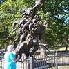 The North Carolina sculpture.