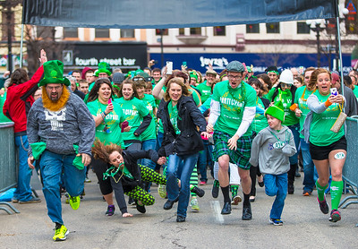 95.7's St. Patty's .01K run for the Hunger Task Force of La-X