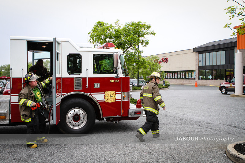 May 4, 2012. Greenwich Twp. Members of the Stewartsville Fire and Police departments respond to ShopRite in Greenwich Twp. for a bomb threat. The threat was received via phone call just after 11am this morning. K-9 units from Bethlehem, PA and NJ State Police investigated the scene. EXPRESS-TIMES PHOTOS | DAVE DABOUR