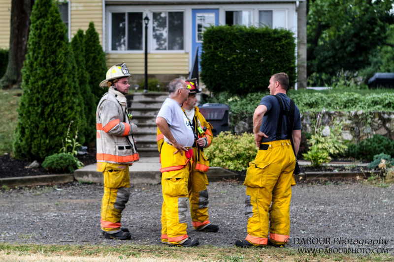 Stewartsville Vol. Fire Co. respond to a call of smoke in residence off Greenwich St in Stewartsville on Sunday July 8, 2012