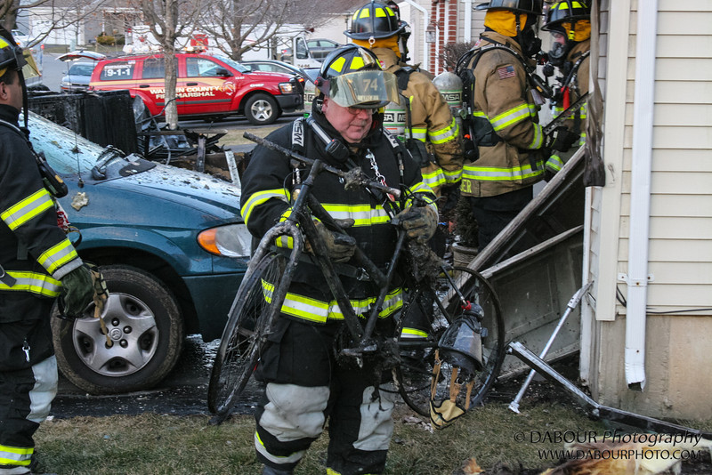 A call of a dryer fire came at 4:39 pm. Members of the Stewartsville Vol. Fire company responded along with help from Harmony, Lopatcong, Bloomsbury, Franklin, Washington Boro. <br /> Photos by   DAVE DABOUR