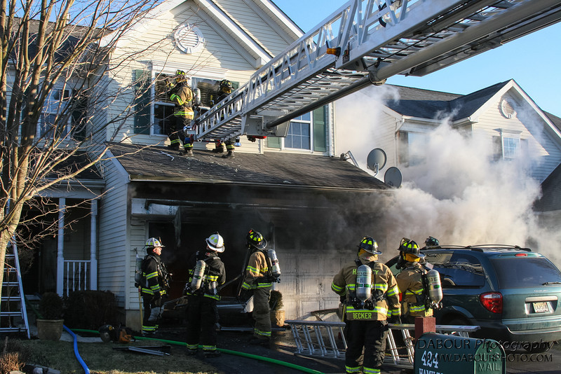 A call of a dryer fire came at 4:39 pm. Members of the Stewartsville Vol. Fire company responded along with help from Harmony, Lopatcong, Bloomsbury, Franklin, Washington Boro. <br /> Photos by | DAVE DABOUR