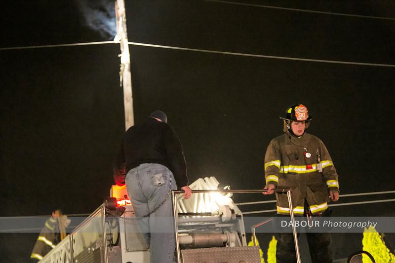 Utility Pole Fire