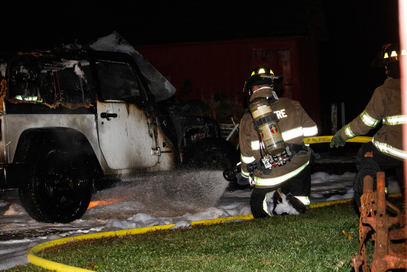 Car Fire Greenwich Twp.