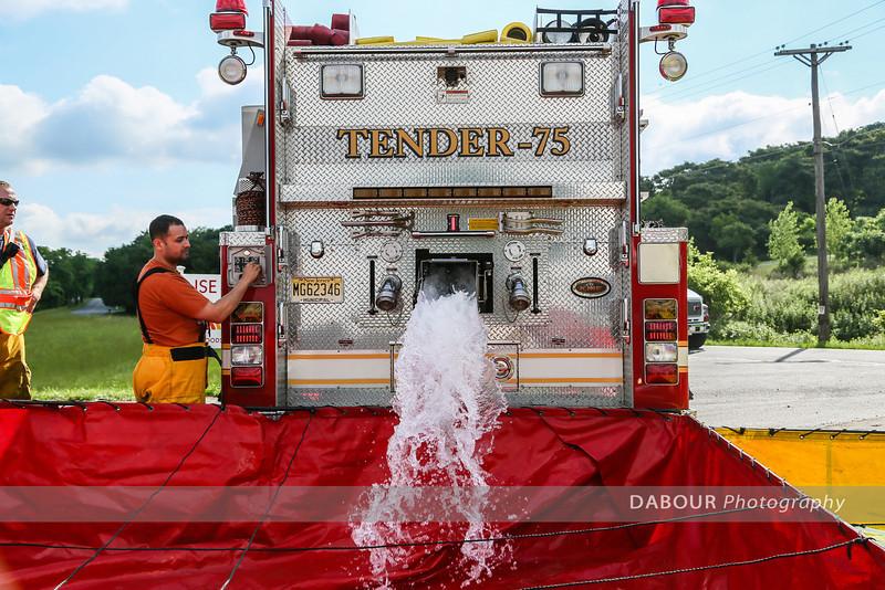 Warren Countywide Fire Dept. Tanker Shuttle Drill
