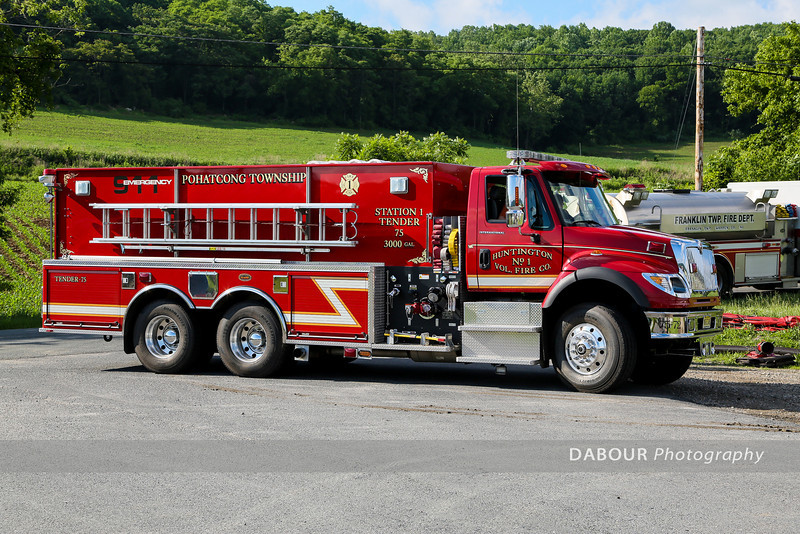 Warren Countywide Fire Dept. Tanker Shuttle Drill