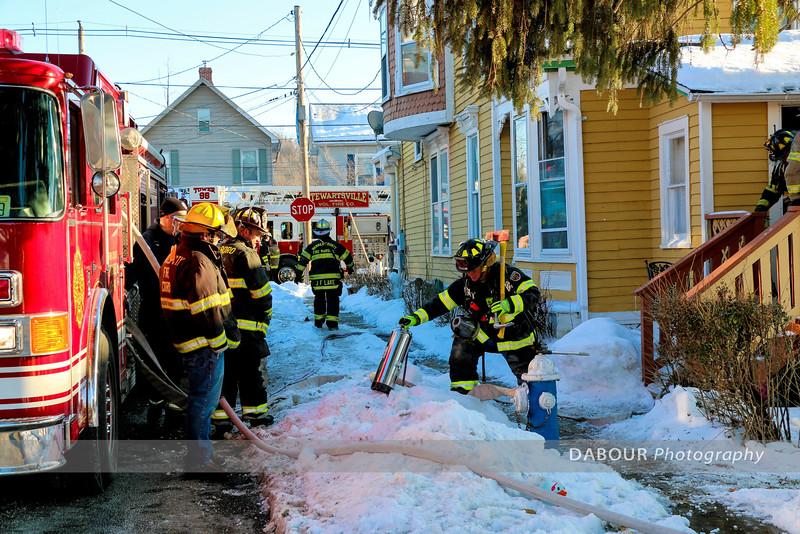Mutual Aid to Washington Boro for Structure Fire