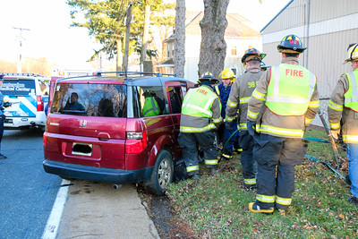 MVA with Injuries Car Vs Tree