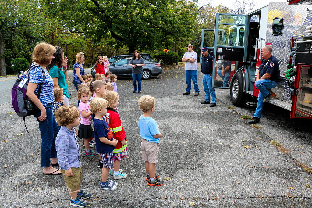 Fire prevention 2017 visit at the Greenwich Nursery School