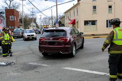 3 Car MVA N Main  and Greenwich St