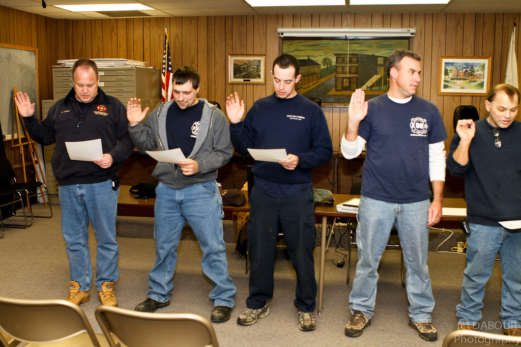 L-R Kevin Young (Assistant Chief), Chris Dittmar (Lieutenant (98-92), Joe Mecsey IV (Captain (98-90), Scott Meers (Lieutenant (98-91), Matt Klouser (Lieutenant (98-90)