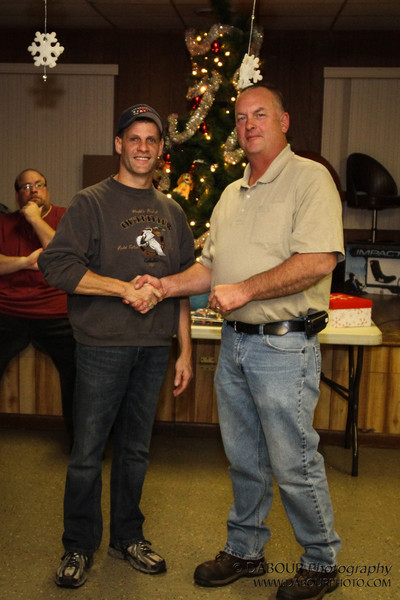 Scott Ferguson was made a lifetime member of the Stewartsville Vol. Fire Co at the 2012 Holiday party