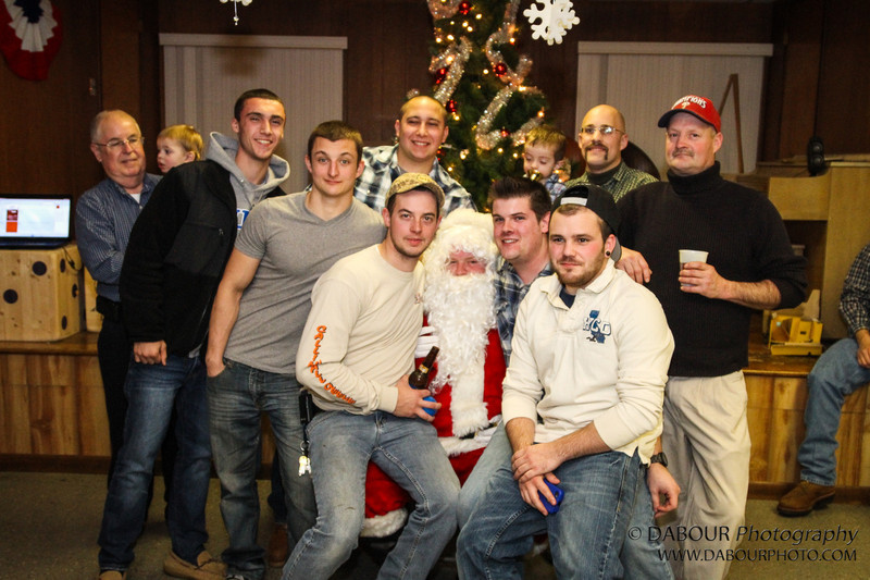 Members of the Stewartsville Vol. Fire Co. take some time off to celebrate the holidays with friends and family