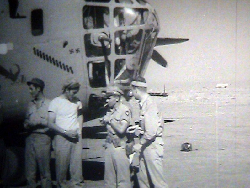 A still from the film: <br /> <br /> ADVANCE OF 98TH BOMBER [I.E., BOMBARDMENT] GROUP, NORTH AFRICA <br /> <br /> ARC Identifier 3085 / Local Identifier 18-CS-246 <br /> <br /> Moving Images from the War Department. Army Air Forces. (06/20/1941 - 09/26/1947)<br /> <br /> Motion Picture, Sound, and Video Records Section, Special Media Archives Services Division, College Park, MD <br /> <br /> Item from Record Group 18: Records of the Army Air Forces, ca. 1902 - 1964